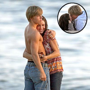 Derek Hough and Shannon Elizbaeth: Kissy Face!