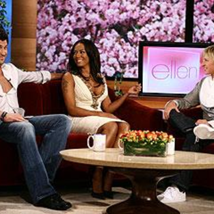 Maksim Chmerkovskiy and Melanie Brown Dish to Ellen