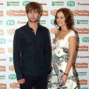 Leighton Meester, Chace Crawford in Italy