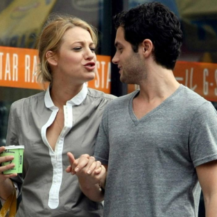 Cute Penn Badgley & Blake Lively Pic of the Day