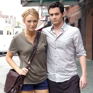 Penn Badgley, Blake Lively Say Hello