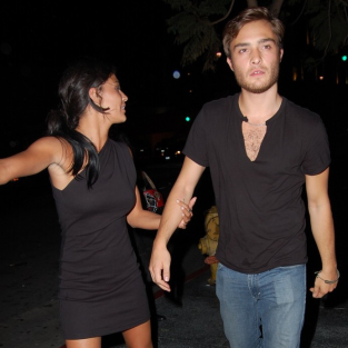 Jessica Szohr and Ed Westwick: Date Night!