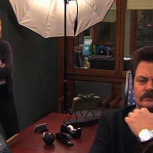 Ron poses