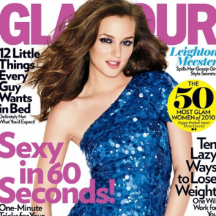 Stylish Leighton Meester Covers Glamour's April Issue