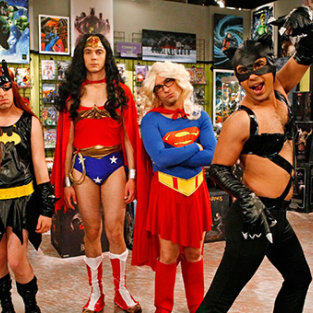 Superheroine Drag Alert: The Men of The Big Bang Theory