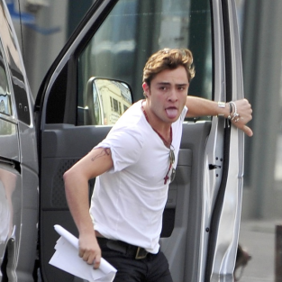 Ed Westwick: On the Run!