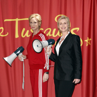 Jane Lynch Immortalized with Wax Statue