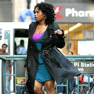 American Idol Picture of the Day: Jennifer Hudson on Set