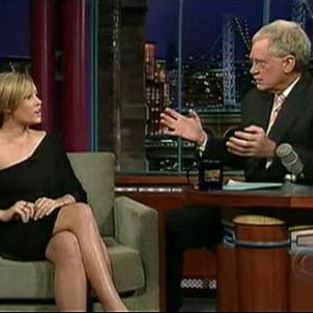 Lauren Conrad Chats Up David Letterman