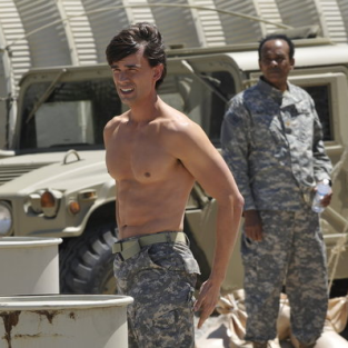 Auggie shirtless