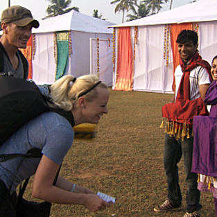 Dave and rachel dance in india
