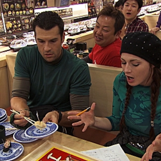Brendan and rachel play sushi bingo