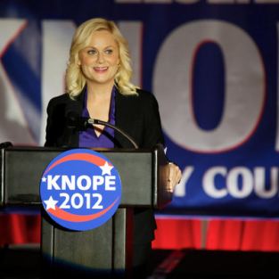 Leslie on election day