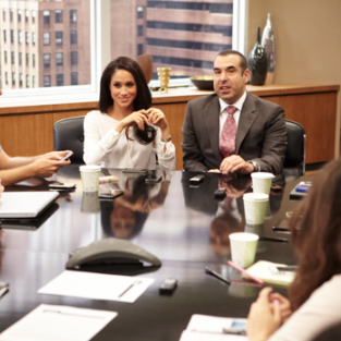Suits Set Visit: Meghan Markle and Rick Hoffman on Love and Loyalty in Season 3