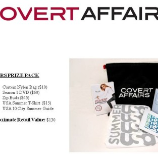Covert Affairs Twitter Contest: Win a Season One DVD and More!