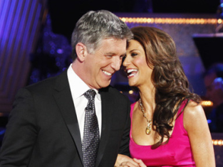 Tom Bergeron and Samantha Harris