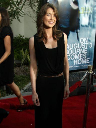 Ellen Pompeo at Bourne Ultimatum Premiere