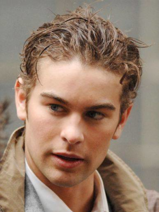Chace Crawford on the Set