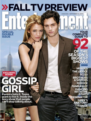 Blake Lively, Penn Badgley EW Cover