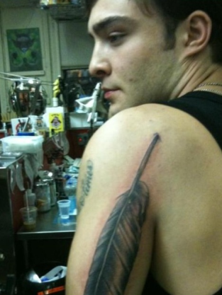 Ed Westwick New Tattoo