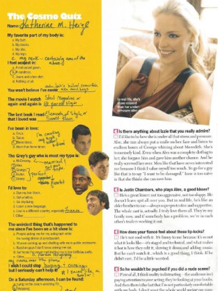 Katherine Heigl in Cosmo, Too