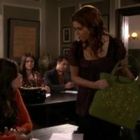 Megan Grabs the Handbag