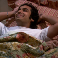 Raj Smiles in Bed