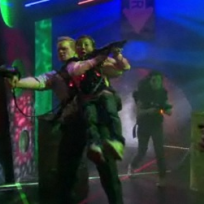 Barney Plays Laser Tag