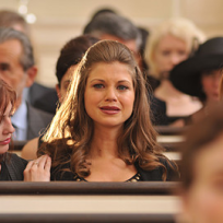 Megan at the Funeral