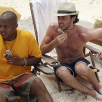 J.D. and Turk on the Beach