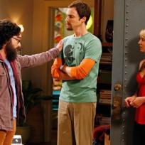 Hairy Leonard and Sheldon