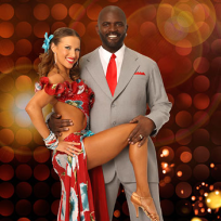 Edyta Sliwinska and Lawrence Taylor