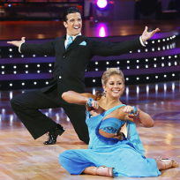 Mark Ballas and Shawn Johnson Pic
