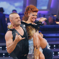 Chuck Liddell and Anna Trebunskaya