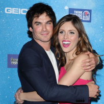Kayla Ewell and Ian Somerhalder