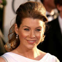 Ellen Pompeo at the Globes