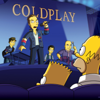 Coldplay on the simpsons