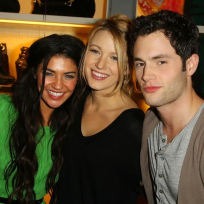 Blake Lively, Penn Badgley and Jessica Szohr