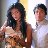 Jessica Szohr and Chris Riggi