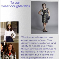 To Our Daughter Blair