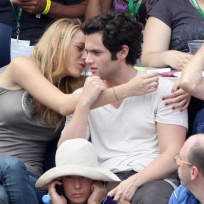 Blake Lively, Penn Badgley at U.S. Open