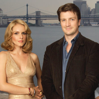 Nathan Fillion and Monet Mazur