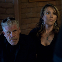 Katey Segal and Ron Perlman