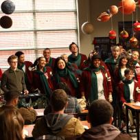 Glee Christmas Scene