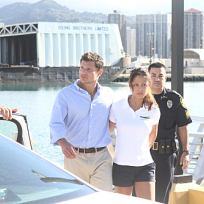 Vanessa minnillo and nick lachey on hawaii five o
