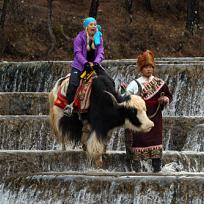 Mallory Rides a Yak