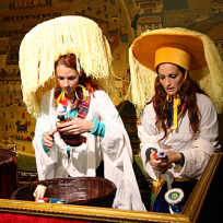 Jaime and Cara in Traditional Tibetan Dress