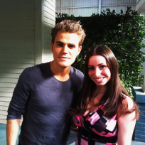 Paul Wesley Set Shot