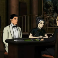 Archer plays cards
