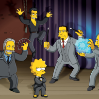 Ricky Jay, David Copperfield and Penn & Teller on The Simpsons